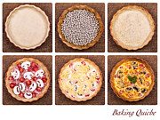 Parchment Prints - Baking quiche Print by Jane Rix