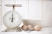 Baking Time Vintage Kitchen Scale Print by Edward Fielding