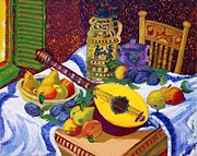 Table Cloth Mixed Media Prints - Balalaika Print by Gunter  Hortz