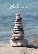 Sand And Sea Posters - Balance Poster by Carol Groenen