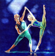 Contemporary Dance Paintings - Balance Point by Judy Kay