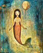 Mermaid Mixed Media - Balance by Shijun Munns