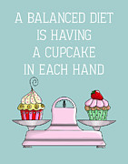 Wall Decor Greeting Cards Prints - Balanced Diet Print by Kelly McLaughlan