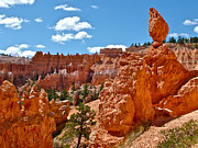Balanced Rock From Queen's Garden Trail In Bryce Canyon Np Print by Ruth Hager