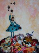 Mystery Mixed Media Prints - Balancing Act Print by Sharon Cummings