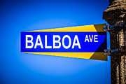 Balboa Island Posters - Balboa Avenue Street Sign on Balboa Island California Poster by Paul Velgos