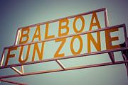 Paul Velgos - Balboa Fun Zone Sign Newport Beach Vintage Photo