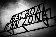 America Photography Framed Prints - Balboa Fun Zone Sign Picture Newport Beach Framed Print by Paul Velgos