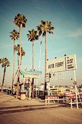 1950s Photo Framed Prints - Balboa Island Ferry Nostalgic Vintage Picture Framed Print by Paul Velgos