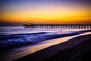America Photography Prints - Balboa Pier at Sunset in Newport Beach California Print by Paul Velgos