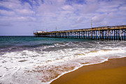 Southern Prints - Balboa Pier in Newport Beach California Print by Paul Velgos