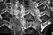 Discord Prints - balconies on casa batllo modernisme style building in Barcelona Catalonia Spain Print by Joe Fox