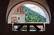 Dracula Photos - Balcony of Bran Castle by Gabriela Insuratelu