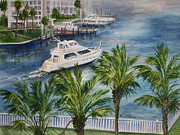 Cruiser Painting Metal Prints - Balcony View  Metal Print by Roxanne Tobaison