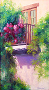 French Doors Originals - Balcony with Bougainvillea by Sherri Aldawood