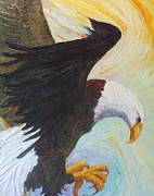 Paris Wyatt Llanso Posters - Bald Eagle - A National Treasure Poster by Paris Wyatt Llanso