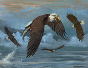 Winged Eagles Posters - Bald Eagle Poster by ACE Coinage painting by Michael Rothman