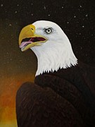 Bird Of Prey Art Paintings - Bald eagle by Zulfiya Stromberg