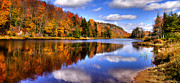 Fir Trees Photos - Bald Mountain Pond in the Adirondack Mountains by David Patterson