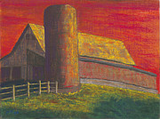 Barn And Silo Prints - Balducci Sunset Print by Garry McMichael