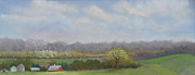 Featured Pastels Posters - Balducci Valley Late Afternoon Poster by Lorraine McFarland