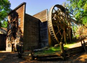 Granary Photos - Bale Grist Mill by Mel Steinhauer