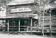 Country Town Posters - BALE of HAY SALOON - MONTANA Poster by Daniel Hagerman