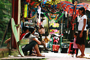 Toy Store Prints - Bali - Marketplace Print by Gira Desai