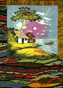 Boat Tapestries - Textiles Framed Prints - Bali Framed Print by Jean Baardsen