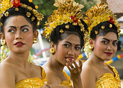 Three People Photo Framed Prints - Balinese Dancers Framed Print by David Smith