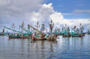 Commercial Prints - Balinese Fishing Boats Print by Louise Heusinkveld