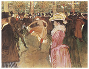 Toulouse-lautrec Prints - Ball at the Moulin Rouge Print by Henri De Toulouse-Lautrec