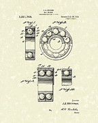 Element Drawings - Ball Bearing 1919 Patent Art by Prior Art Design