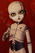 Bjd Digital Art - Ball Jointed Doll - Love by Liam Liberty