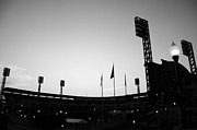 Pnc Park Prints - Ball Park Silhouette Print by Paul Scolieri