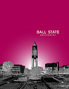 Fraternity Digital Art Prints - Ball State University Print by Myke Huynh