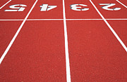 Athletic Art - Ballard High School Track Surface by Nathan Griffith