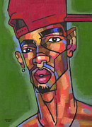 Portraits Tapestries Textiles Originals - Baller by Douglas Simonson