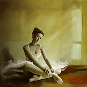 Waltz Paintings - Ballerina  by Corporate Art Task Force