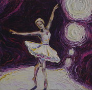 Paris Wyatt Llanso Metal Prints - Ballerina Dancin in Purple Metal Print by Paris Wyatt Llanso