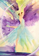Dancing Girl Paintings - Ballerina Dream by Bette Orr