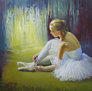 Show Girl Paintings - Ballerina by Elena Oleniuc