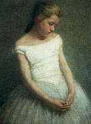Youth Paintings - Ballerina female dancer by Angelo Morbelli