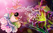Ballerinas Digital Art Prints - Ballerina Flower Print by Dina Raouf
