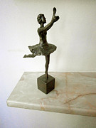 Ballerina Sculpture Posters - Ballerina Poster by Milen Litchkov