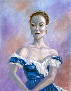 Painted Paintings - Ballerina Portrait by Joel Fletcher