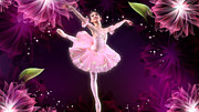 Ballerinas Digital Art Prints - Ballerina Rose Print by Dina Raouf
