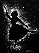 Dancing Girl Paintings - Ballerina Silhouette by Barbara Pelizzoli