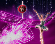 Ballerinas Digital Art Prints - Ballerina stars Print by Dina Raouf