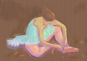Arlene Babad - Ballerina Tying her Shoes
